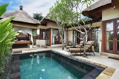 Take a romantic dip in your very own villa private pool at the lush Balinese hideaway at the Ubud Village Resort & Spa