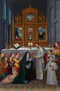 La comunión de la Virgen o La familia del archiduque Carlos de Estiria (Monasterio de las Descalzas Reales, Madrid) - Category:Maria Christina of Austria (1574–1621) - Wikimedia Commons