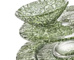 #ivv #arabesque #green #Crystalline #glass #madeinitaly #tuscani #handmade #wedding #hotel #table #restaurant #neriluxury