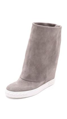 Casadei Suede Fold Over Boots