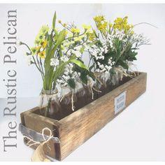 Rustic Planter Box Cedar Wood -Reclaimed Wood -Barn Wood -Weddings -Rustic Weddings -Wedding Centerpiece -Home Decor -Country Decor -Home