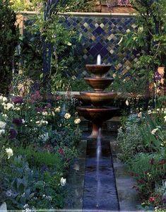 blue Moroccan garden from Chelsea Garden Show (?)