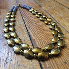 Gold and Gray Statement Necklace