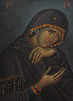 Byzantine Icons, Byzantine Art, Religious Paintings, Roman Art, Religious Icons, Orthodox Icons, Sacred Art, Virgin Mary, Madonna
