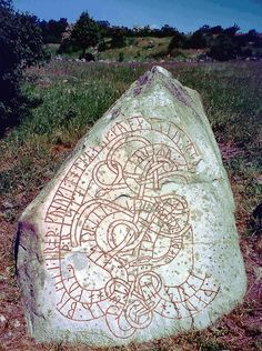 Viking Runestone from Sweden