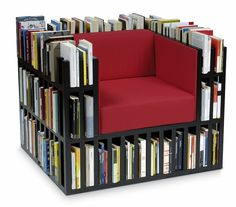 The Library Chair: Keep Your Book & Magazine Mess Organized