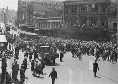Welcoming Don Bradman home, George St Sydney. 1930 Sam Hood NSW State Library