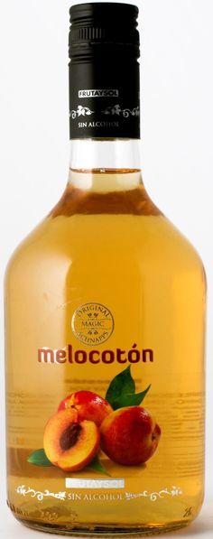 Melocoton Perziklikeur Alcoholvrij. Peach flavoured mocktail.