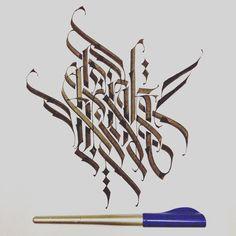 """Think! #architaste #calligraphy #calligritype #lettering #pilotparallelpen…"