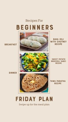 Weekly Recipes For Beginners - Yogurt Fruit Parfait, Beetroot Pulao And Much Sweet Potato Breakfast, Breakfast Recipes, Dinner Recipes, Sabzi Recipe, Fruit Parfait, Paratha Recipes, Coconut Chutney, Chutney Recipes, Recipes For Beginners