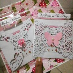 Ideia de convite para bodas de papel da leitora Thallytka