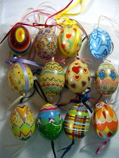 90's hand painted Easter eggs