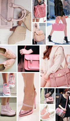 A Cor do Ano 2016: Rose Quartz (ou Rosa Quartzo) Hypefemme | por Patricia Sachs - Inspiração Sapatos e Bolsas / Bag and Shoes Inspirations