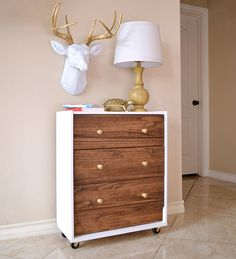 Check Out This Ikea Rast Into A Mid Century Modern Inspired Dream Nightstand