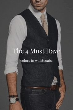 The 4 Must Have Colors In Waistcoats