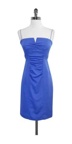 Nicole Miller Blue Spaghetti Strap Dress