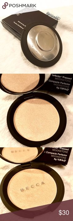 BECCA Highlighter BECCA SHIMMERING SKIN PERFECTOR. SHADE MOONSTONE. Brand new in box. Product has never been touched. Full size. Not accepting offers because this is a $40 product and it is already discounted by A LOT! BECCA Makeup Luminizer