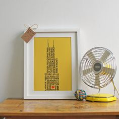 Windy City Love story  Original A4 print by thehousesparrow, £10.00