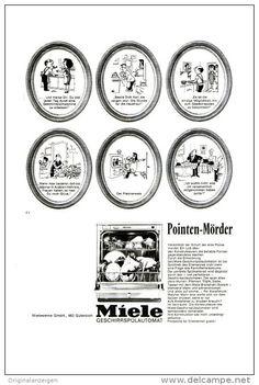 Werbung - Original-Werbung/ Anzeige 1966 - 1/1-SEITE - CARTOON / MIELE GESCHIRRSPÜLER - ca. 150 X 230 mm