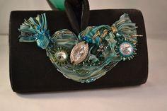 Evening Purse Shibori Ribbon and Swarovski Crystal от CloesCloset
