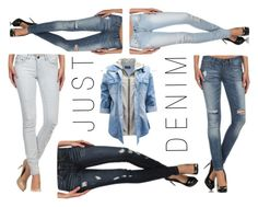 """JUST DENIM"" by kelli-couture ❤ liked on Polyvore featuring mode"