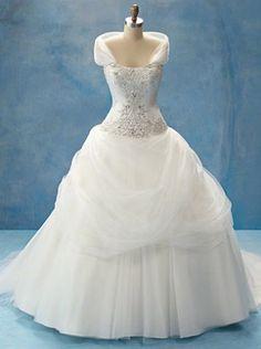 Belle Disney Wedding Dress. Uh oh. I love it.