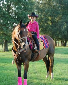 Little cowgirl love the pink