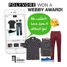 """Because of you...we won a Webby Award!!"" by polyvore ❤ liked on Polyvore featuring INC International Concepts, Incotex, FOSSIL, Yves Saint Laurent and Vans"