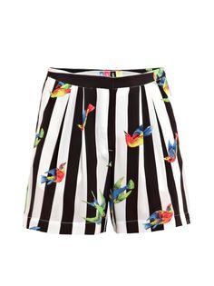 MSGM stripe & bird print shorts  £180