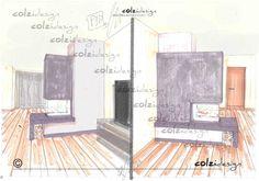 Monoblocco AustroFlamm Trifacciale con rivestimento in marmo