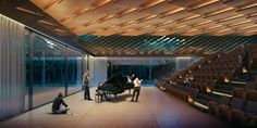Writers Theatre on Behance Architecture Visualization, Concert Hall, Theatre, Photoshop, Photography, Writers, Home Decor, Salmon, Competition