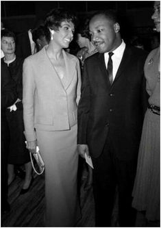 Lena Horne and the Rev. Dr. Martin Luther King, Jr. at a party Ms. Horne gave in Dr. King's honor in New York in 1963.