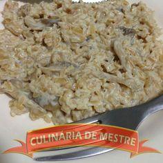 Culinária de Mestre: Arroz Integral com Shimeji