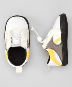 Take a look at this White & Buttercup Sneaker by Rugged Bear on #zulily today!