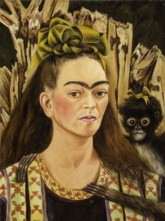 Diego Rivera and Frida Kahlo in Detroit Exhibition | Self-portrait with Monkey | The Detroit institute of Arts