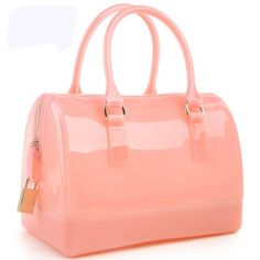 Women handbags leather bag new jelly candy pillow top handbag colorful bag