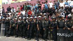 Al menos 200 policias fueton encargados de la seguridad.