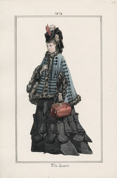 1876 The Queen / Los Angeles Public Library, Casey fashion plates