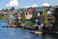Imagine living here!  Sleepless in Seattle was filmed in one of the house boats on Lake Union.
