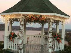 Fall Flowers For Wedding At Gazebo