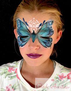 Sommerfugl facepaint Butterfly facepaint Monica Braathu Norway