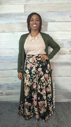 Agnes & Dora Ball Skirt, Basic Tee and Duster