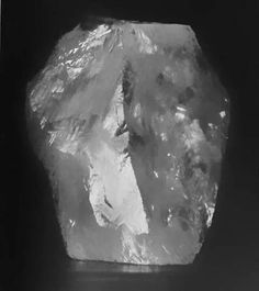 The famous Cullinan Diamond before it was cut into several pieces.