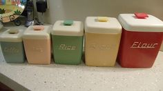 Vintage, Retro, Nally, 1950's Kitchen canister Set