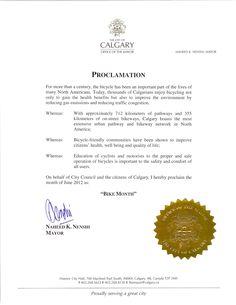 Mayor Nenshi proclaims June as Bike Month!