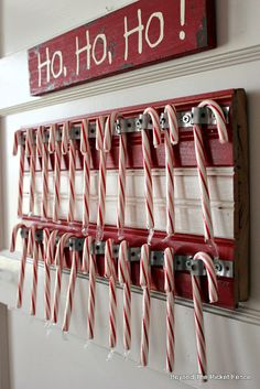 Candy Cane Holder, http://bec4-beyondthepicketfence.blogspot.com/2015/11/12-days-of-christmas-day-7-candy-cane.html