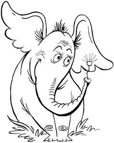 "Today I will show you how to draw Horton, the elephant from Dr. Seuss's book ""Horton Hears a Who! This is the book version, not the movie version. The simple step by step guide will show you easily how to draw Horton the elephant. by Tammire Dr. Seuss, Dr Seuss Week, Dr Seuss Coloring Pages, Kids Coloring, Dr Seuss Crafts, Dr Seuss Activities, Horton Hears A Who, Dr Seuss Birthday, How To Draw Steps"