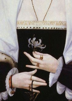 leaddust:  An unknown lady, Margaret Pole? (detail)