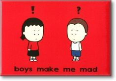 Refrigerator Magnets - Boys Make Me Mad Fridge Magnet - FunkyFridge.com