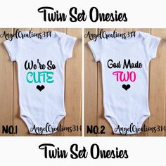 Boys and Girls! Boys and Girls! Twin Baby Clothes, Twin Baby Gifts, Twin Baby Boys, Boy Girl Twins, Twin Babies, Baby Boy Newborn, Baby Shirts, Onesies, Twin Girls Outfits